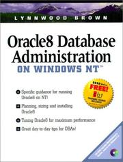 Cover of: Oracle8 database administration on Windows NT