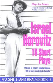 Cover of: Israel Horovitz