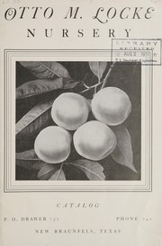 Cover of: Otto M. Locke Nursery catalog