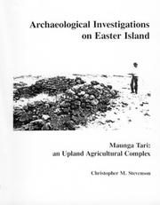 Cover of: Archaeological Investigations on Easter Island. Maunga Tari