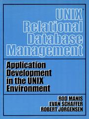 Cover of: UNIX (TM) Relational Database Management | Rod Manis