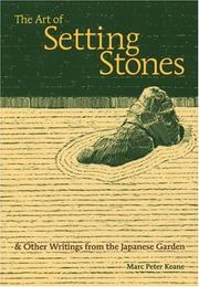 Cover of: The Art of Setting Stones | Marc P. Keane