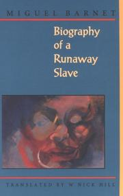 Cover of: Biography of a runaway slave