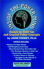 Cover of: Inside the Poker Mind | John Feeney