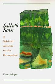 Cover of: Sabbath sense | Donna Schaper