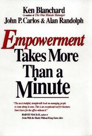 Cover of: Empowerment takes more than a minute