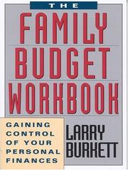 Cover of: Family Budget Workbook