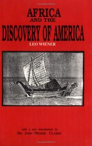 Cover of: Africa and the discovery of America