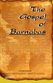 Cover of: Gospel of Barnabas (Apocrypha) |