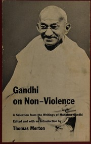 Cover of: Gandhi on non-violence