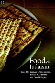 Cover of: Food and Judaism | Studies in Jewish Civilization