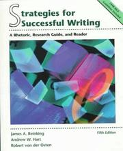 Cover of: Strategies for successful writing | James A. Reinking