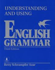 Cover of: Understanding and using English grammar