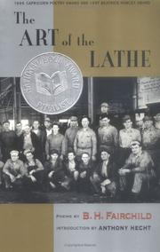 Cover of: The Art of the Lathe | B. H. Fairchild