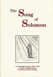 Cover of: The Song of Solomon | O. Talmadge Spence