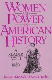 Cover of: Women and Power in American History | Kathryn Kish Sklar