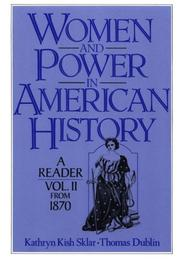 Cover of: Women and Power in American History