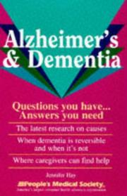 Cover of: Alzheimer's & dementia: questions you have-- answers you need