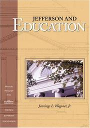 Cover of: Jefferson and Education | Jennings Wagoner