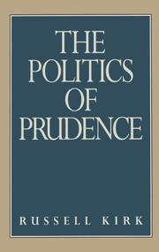 Cover of: The Politics of Prudence