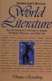 Cover of: World Literature/Instructor's Manual