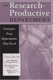 Cover of: The Research-Productive Department | Carol J. Bland