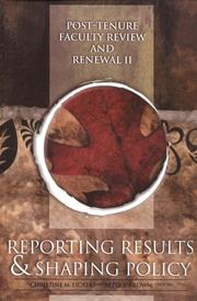 Cover of: Post-Tenure Faculty Review and Renewal II |