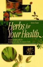 Cover of: Herbs for your health