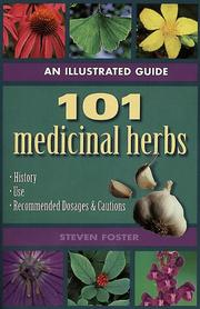 Cover of: 101 Medicinal herbs