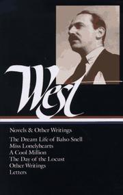Cover of: Novels and other writings