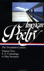 Cover of: American poetry by