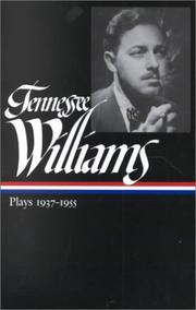 Cover of: Tennessee Williams