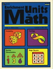 Cover of: Enrichment Units in Math, Book 3 |