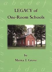 Cover of: Legacy of one-room schools