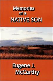 Cover of: Memories of a Native Son | Eugene McCarthy
