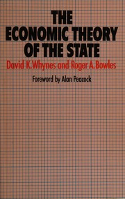 Cover of: The economic theory of the state