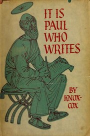 Cover of: It is Paul Who Writes