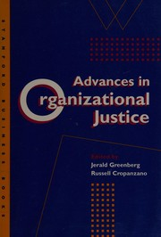 Cover of: Advances in organizational justice