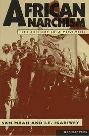Cover of: African anarchism