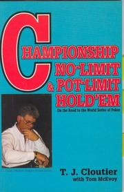 Cover of: Championship no-limit and pot-limit hold
