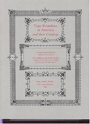 Cover of: Type foundries of America and their catalogs