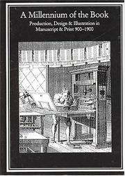 Cover of: A millennium of the book