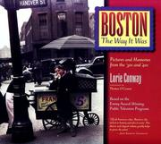 Cover of: Boston the Way It Was