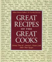 Cover of: Great Recipes of the Great Cooks