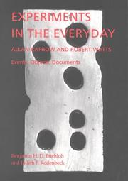 Cover of: Experiments in the everyday