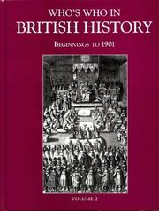 Cover of: Who's Who in British History