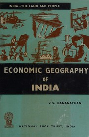 Cover of: Economic geography of India
