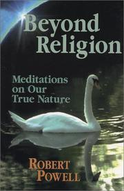 Cover of: Beyond religion