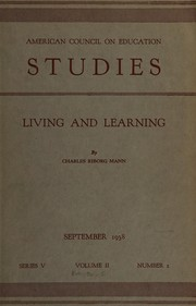 Cover of: Living and learning | Mann, Charles Riborg