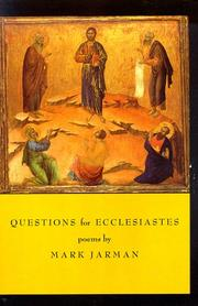 Cover of: Questions for Ecclesiastes: poems